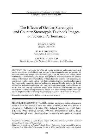 effects of gender bias text books Amy ford, denise smith, darla perry what influences the toy selections that boys and girls make, and what roles do parents, peers, and the media play in their decision-making.