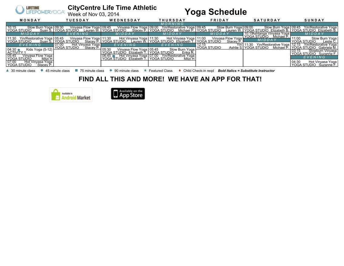 lifetime yoga schedule crosstown | jidiworkout.co