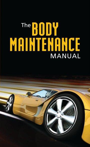 Men's Body Maintenance Manual
