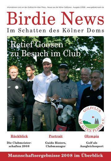 Retief Goosen zu Besuch im Club Retief Goosen zu Besuch im Club