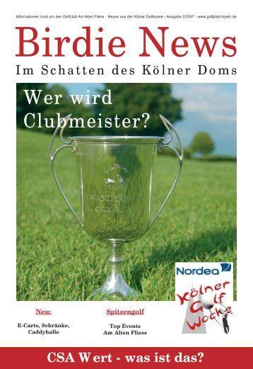 CSA Wert - Golfclub Am Alten Fliess eV