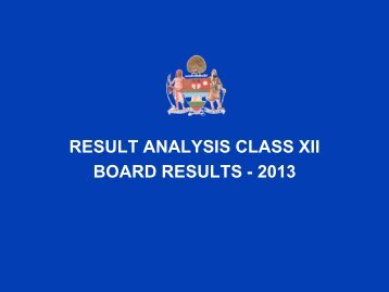 RESULT ANALYSIS CLASS XII BOARD RESULTS ... - Mayo College