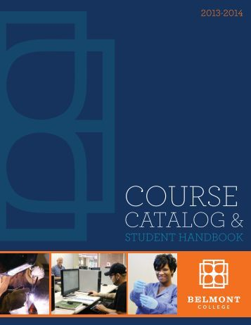 2013-2014 Belmont College Catalog