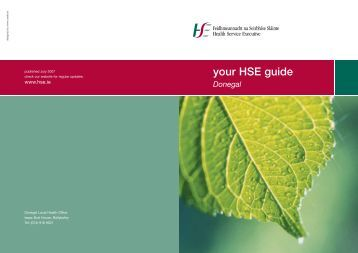 your HSE guide Donegal - Health Service Executive