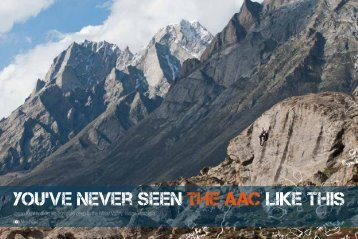 You've never seen the AAc Like This - American Alpine Club