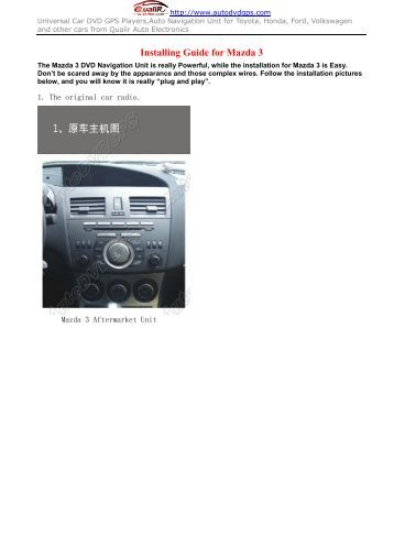 mazda mobile start installation instructions