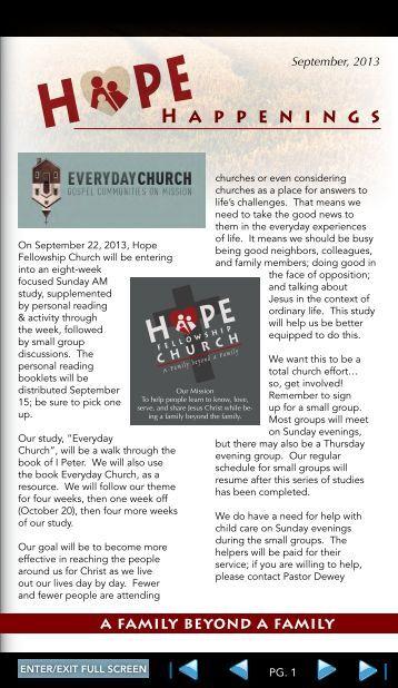 H appenings - Hope Fellowship Church