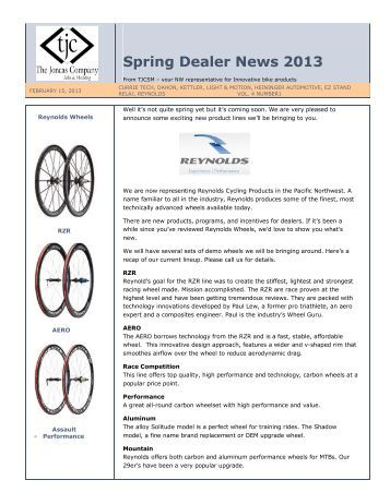 2013 Spring Product News - tjcsm
