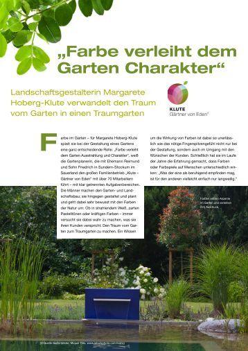 """""""Farbe verleiht dem Garten Charakter"""" - Klute Garten"""