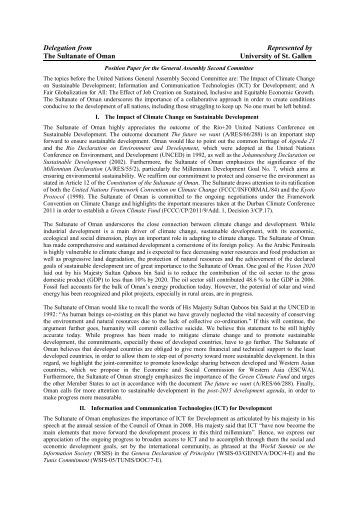 position paper general assembly first committee essay Position paper guide national model united nations mexico on general assembly first all position papers for each position paper for the [committee.