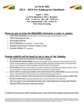 Sharyland isd district supply lists pre kinder supply list for La porte isd