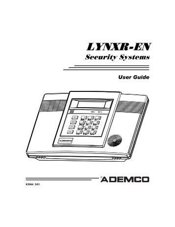 Ademco: Installation Manual Ademco Lynxr En
