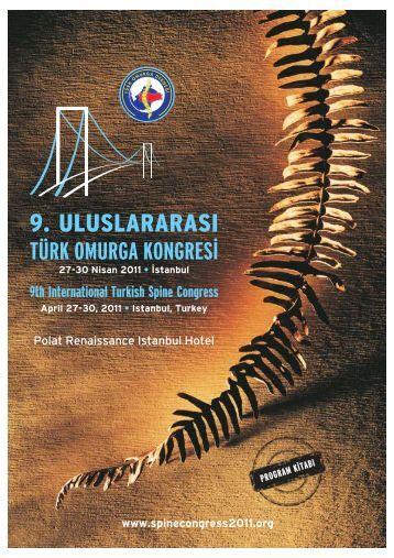 Program için tıklayınız. - Türk Omurga Derneği