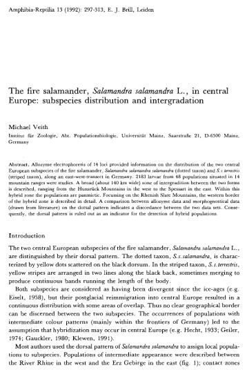 Europe: subspecies distribution and intergradation - VipersGarden