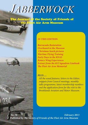Jabberwock Issue 70 (Feb 2013) - Society of Friends of the Fleet Air ...