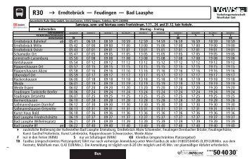 R30 → Erndtebrück Feudingen Bad Laasphe - ZWS