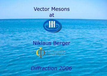 Niklaus Berger Diffraction 2006 - Zeus