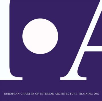 European charter of Interior Architecture Training 2013 - Bni