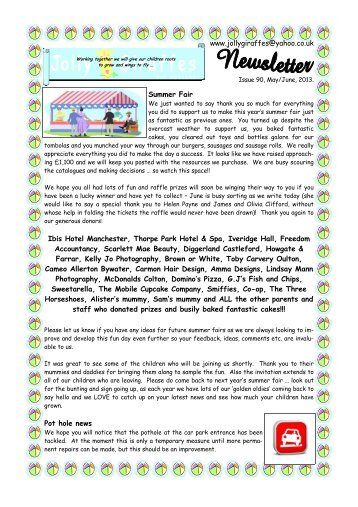 issue 90 may-june 13.pub - Jolly Giraffes Day Nursery Ltd