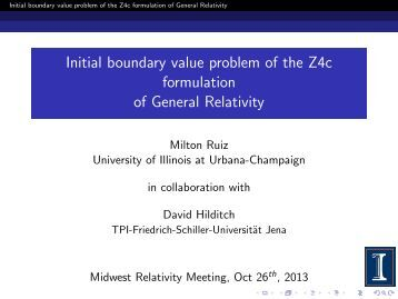 Initial boundary value problem of the Z4c formulation of General ...