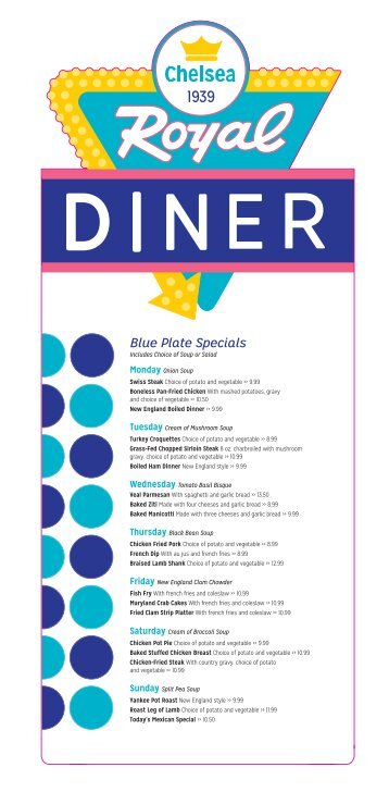 Download our complete Lunch & Dinner menu (PDF).