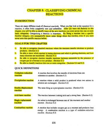Classifying chemical reactions worksheet 2kclo3