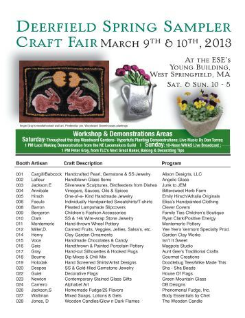 Deerfield Craft Show