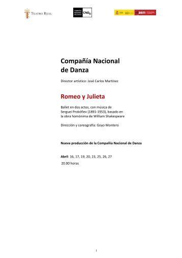 Compañía Nacional de Danza: Romeo y Julieta - Teatro Real