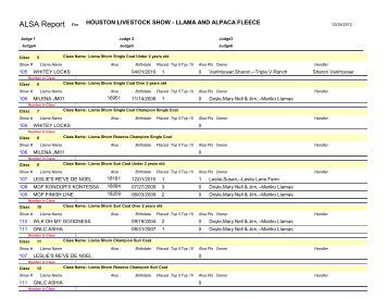 ALSA Report - Alpaca Llama Show Association