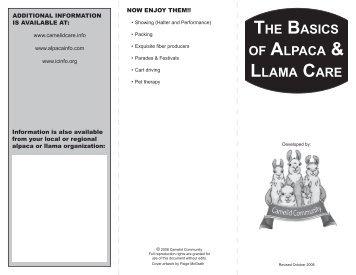 the basics of alpaca & llama care - Alpaca Llama Show Association