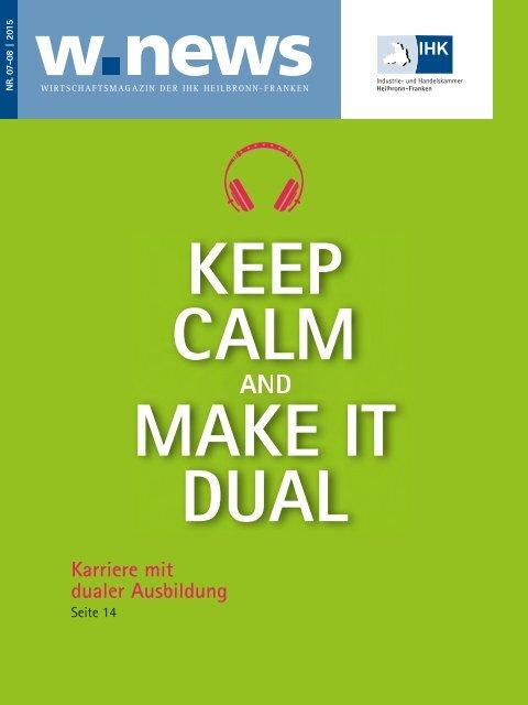 Duale Ausbildung | w.news 07-08.2015
