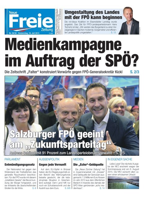 Medienkampagne im Auftrag der SPÖ?