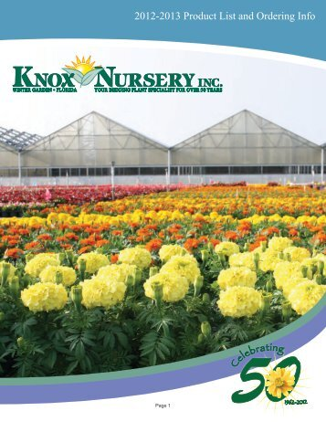 2012-2013 Product List and Ordering Info - Knox Nursery, Inc.