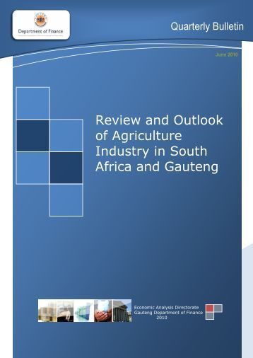 Quarterly Bulletin June 2010 - Gauteng Provincial Treasury