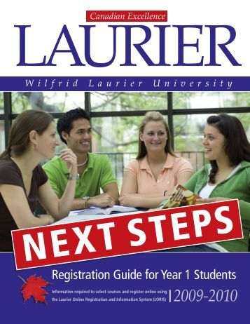 Registration Guide for Year 1 Students - Wilfrid Laurier University