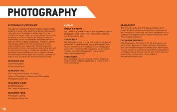 PHOTOGRAPHY - Delaware College of Art and Design