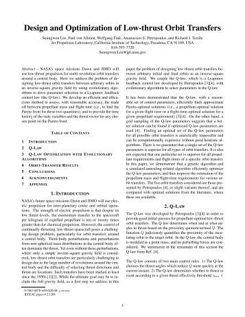 Design and Optimization of Low-thrust Orbit Transfers - Visual and ...
