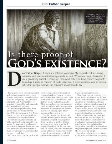 gods existence What evidence does creation offer for faith in god, jesus, and the bible origins as proof of god's existence christian apologetics vs evolution.