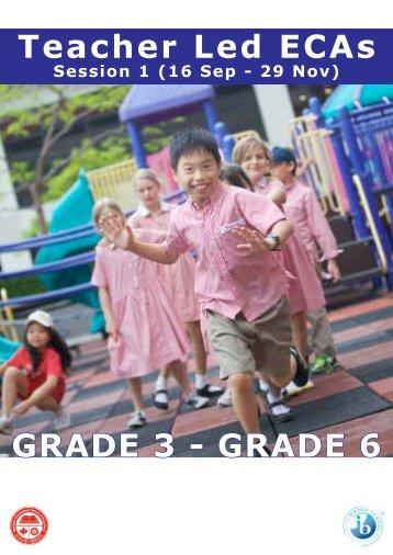Teacher Led ECAs GRADE 3 - GRADE 6