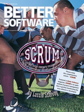 Please enjoy this complimentary article— SCRUM ... - SQE.com