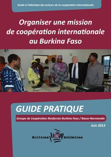 Organiser une mission de coopération internationale au Burkina Faso