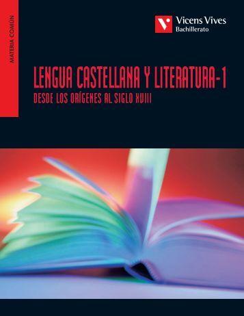 Lengua castellana y literatura-1 desde los orígenes ... - Vicens Vives