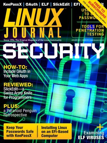 Linux Journal | January 2012 | Issue 213 - ACM Digital Library