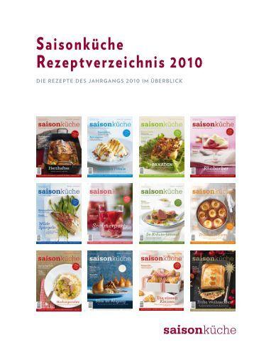 Saisonküche Rezeptverzeichnis 2010