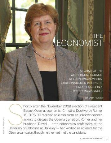 ECONOMIST - The William & Mary Alumni Association