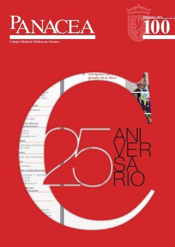 Descargar revista número 100 - Colegio oficial de Medicos de Navarra