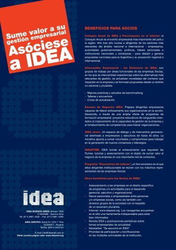 Descargue aquí los formularios de asociación - IDEA
