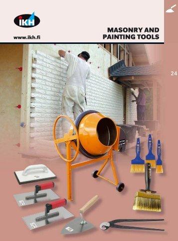 24. masonry and painting tools