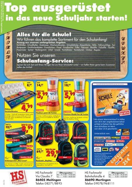 HS Fachmarkt KW31