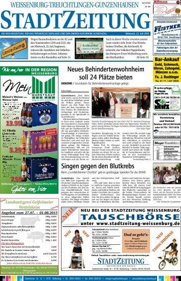 StadtZeitung Weissenburg 22.07.2015